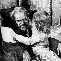 Beth with Mr. Laurence, Little Women by Chris Duke