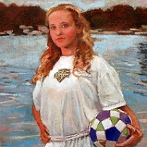 Cassie with Soccer Ball by Chris Duke
