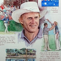 Greg Norman by Chris Duke
