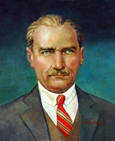 Mustafa Kemal Ataturk - III by Chris Duke