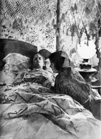 Beth in Bed, Little Women by Chris Duke