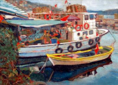 Bosphorus Fishing Boats by Chris Duke