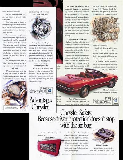 Chrysler Ads by Chris Duke