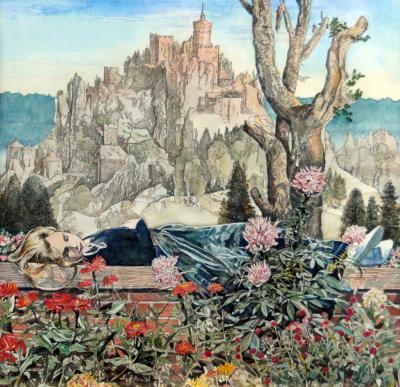 Inga on Garden Wall by Chris Duke