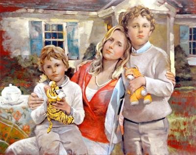 Nancy Slaymaker and her Two Sons by Chris Duke