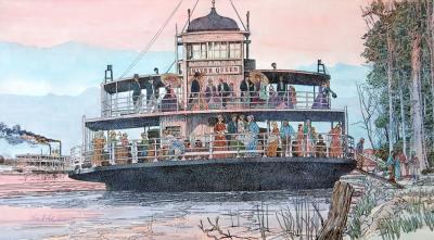 Mississippi Riverboat, American Girl by Chris Duke