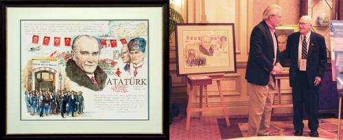 Ataturk Portrait at 2011 ATC Conference - Chris Duke