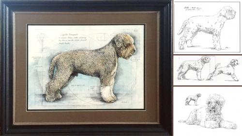 Painting Best Lagotto Romangnolo - Chris Duke