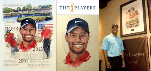 Tiger Woods, PLAYERS Portrait - Chris Duke