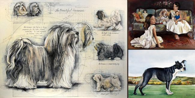 Latest Dog Paintings - Chris Duke