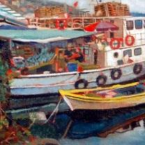Bosphorus Fishing Boats by Chris Duke