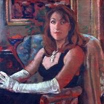 Julia in White Gloves by Chris Duke