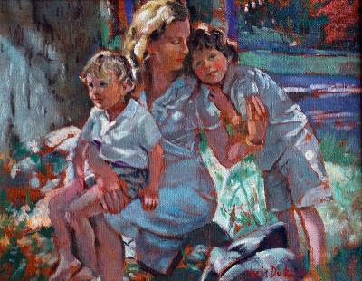 Nancy and her Sons Colin and William by Chris Duke