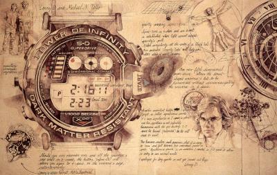 Time Machine Wrist Watch by Chris Duke